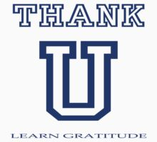 THANK U (light t-shirt) by Kevin Bergen