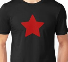 Large Ruby Red Star  Unisex T-Shirt