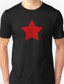 Large Ruby Red Star  T-Shirt