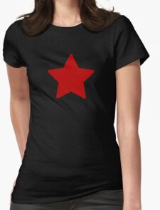 Large Ruby Red Star  Womens Fitted T-Shirt