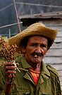 Old Cuban farmer, Vinales, Cuba by David Carton