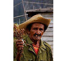Old Cuban farmer, Vinales, Cuba Photographic Print