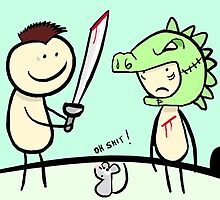 Lets pretend that i'm a dragon slayer and your the dragon yeah? by stitchgrin