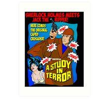 Sherlock Holmes - A Study in Terror. Art Print