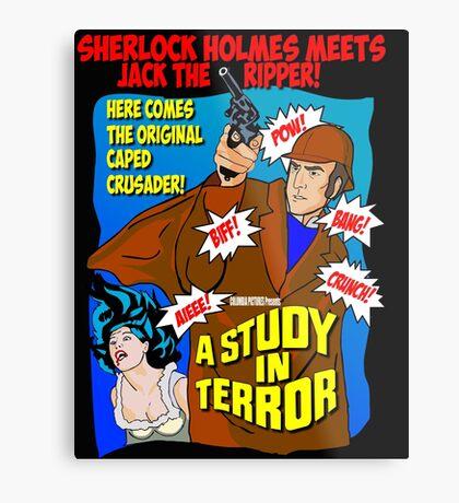 Sherlock Holmes - A Study in Terror. Metal Print