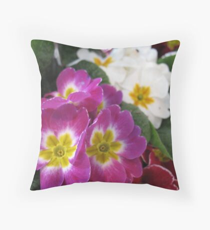 Primrose Tea Party Throw Pillow