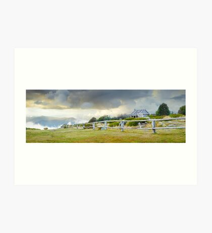 Stormy Evening at Craigs Hut, Mt Stirling, Victoria, Australia Art Print