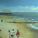 Cleethorpes Beach from the Promenade by bryanhibleart