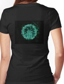 Blue Iced Flower in Black Womens Fitted T-Shirt