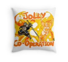 Jolly Cooperation! Throw Pillow