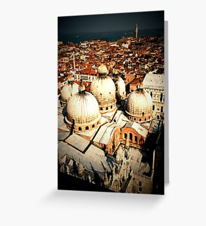 St Mark's Basilica from the Campanile Greeting Card