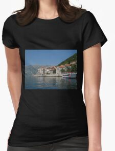 Perast Harbour Womens Fitted T-Shirt