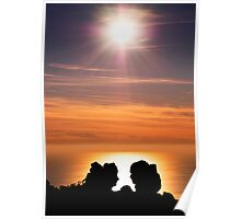 Sunset on the Mediterranean sea Poster
