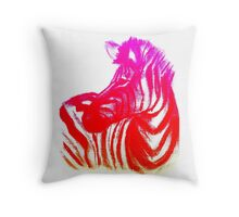 Magenta Zebra Throw Pillow
