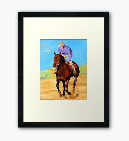 Beach Rider Framed Print