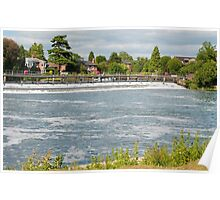 Weir on the River Thames Marlow Poster