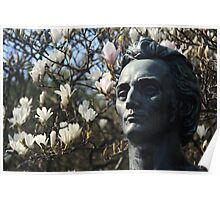 Bust in St Steven's Green, Dublin. Poster