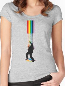 Somewhere Over the Rainbow - Someone's Getting Wet Women's Fitted Scoop T-Shirt