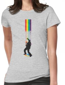 Somewhere Over the Rainbow - Someone's Getting Wet Womens Fitted T-Shirt