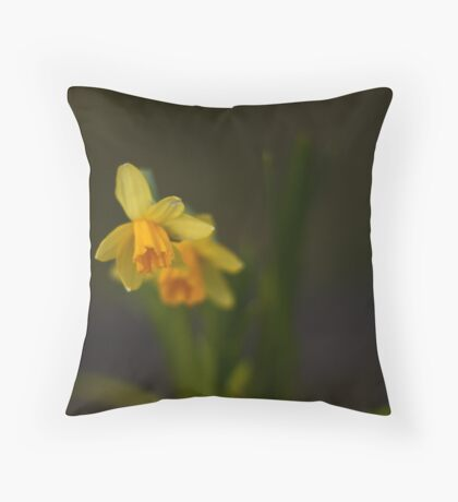 Early Daffodils Throw Pillow