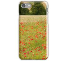 Poppies in Cotswold Field England UK iPhone Case/Skin