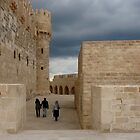 Walking at The Qaitbay Citadel In Alexandria   by Lucinda Walter