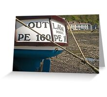 Fishing Boat Lower Fishguard in Pembrokeshire Wales Greeting Card