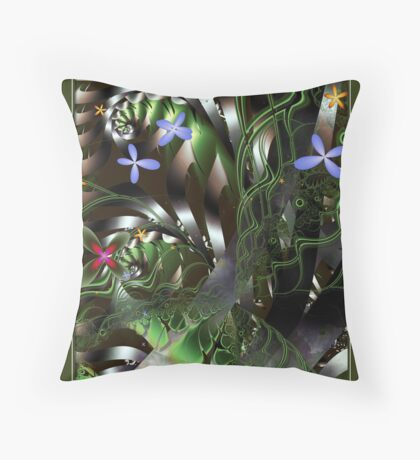 Floral Bouquet Throw Pillow