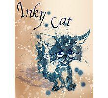 Inky cat Photographic Print