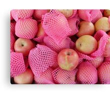 Food - delicate apples Canvas Print