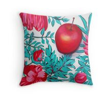 Rosy Apple Throw Pillow