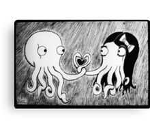Octopus Love Canvas Print