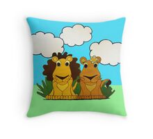 Lion & Lioness Throw Pillow
