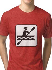 Canoeing  Tri-blend T-Shirt