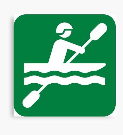 Canoeing Canvas Print