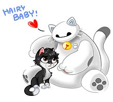 Kitty and cat hairy baby baymax by BellaArtwork