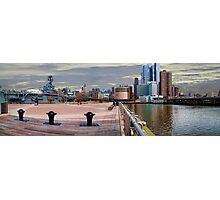 The Intrepid & West Side Piers Panorama, NYC, USA Photographic Print