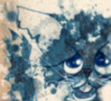 Inky cat Sticker