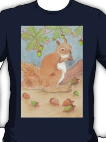 Squizzy Squirrel Gets Ready For Winter T-Shirt