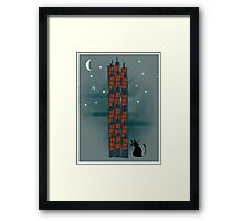 Animal's Nightlife - Urban Cat Framed Print