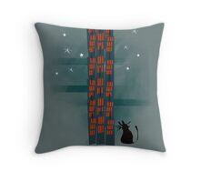 Urban Cat Throw Pillow