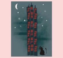 Animal's Nightlife - Urban Cat One Piece - Long Sleeve