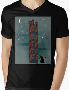 Animal's Nightlife - Urban Cat Mens V-Neck T-Shirt
