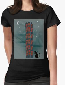 Animal's Nightlife - Urban Cat Womens Fitted T-Shirt