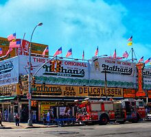 Nathan's Famous Frankfurters, Original Headquarters, Coney Island, Brooklyn, USA by Chris Lord