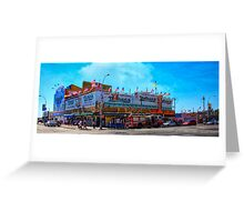 Nathan's Famous Frankfurters, Original Headquarters, Coney Island, Brooklyn, USA Greeting Card