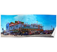 Nathan's Famous Frankfurters, Original Headquarters, Coney Island, Brooklyn, USA Poster