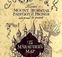 Map Harry potter castle, The Marauders Map by BellaArtwork