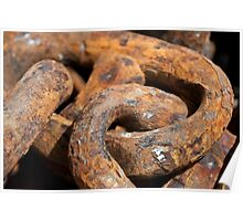 Big links, rusty chain. Poster