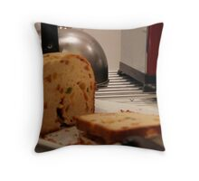 kettle, toaster and cake (home-made) Throw Pillow